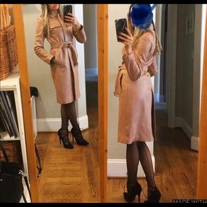 Kenneth Cole S nude leather trench coat